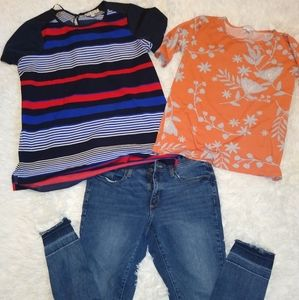 Women's tops and jeans outfit